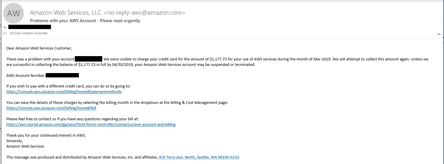 aws email