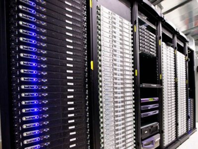 Servers in Escrow London Data Centre